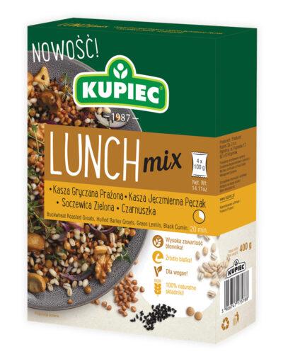 Lunch Mix kasza gryczana, pęczak, soczewica, czarnuszka