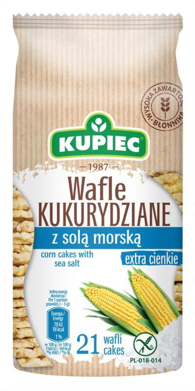 Wafle kukurydziane z solą morską